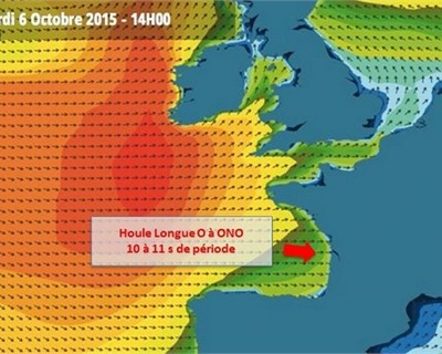 Swell arriving just in time for Quik / Roxy pro 6th October